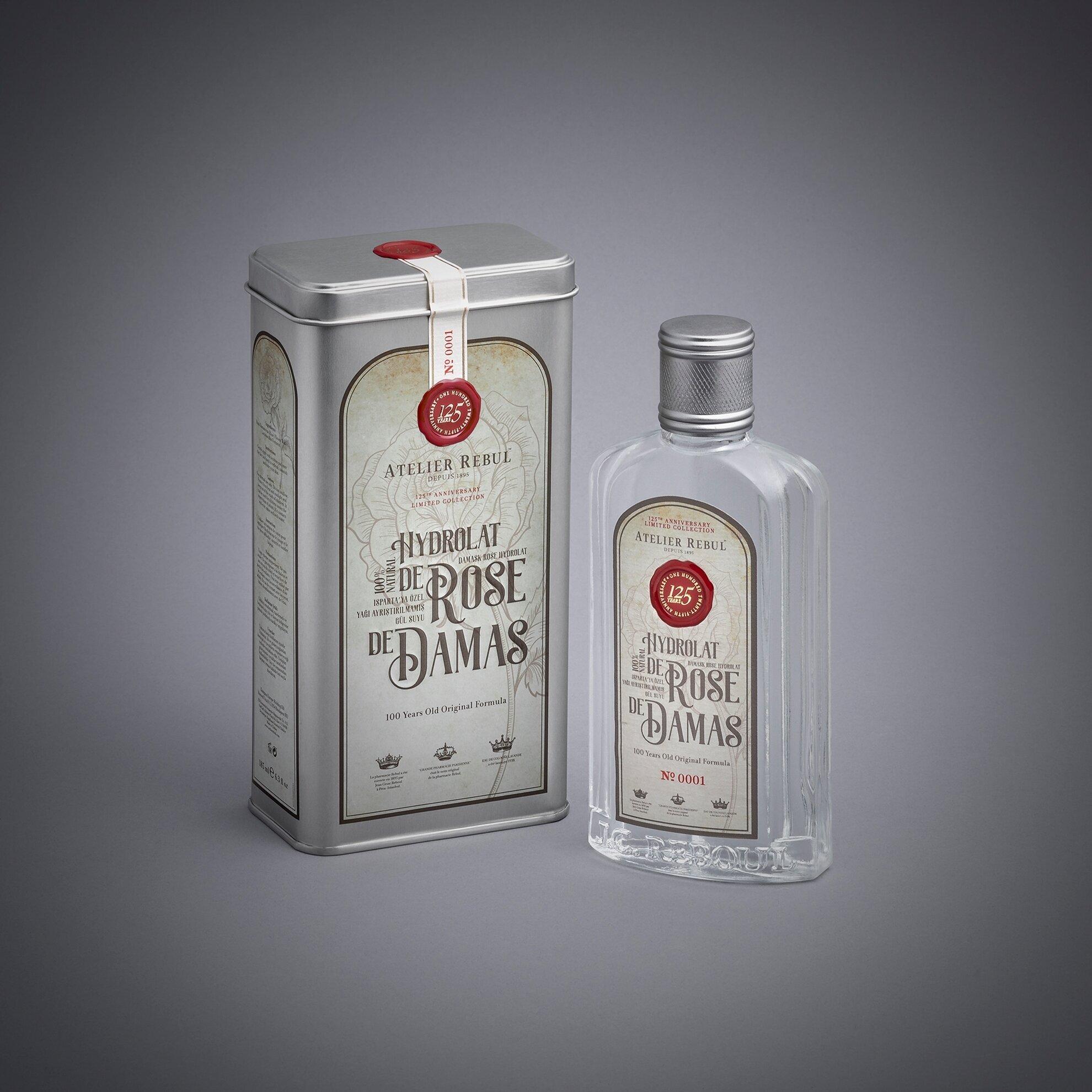Damask Rose Hydrolat 185 ml (Isparta Saf Gül Suyu)