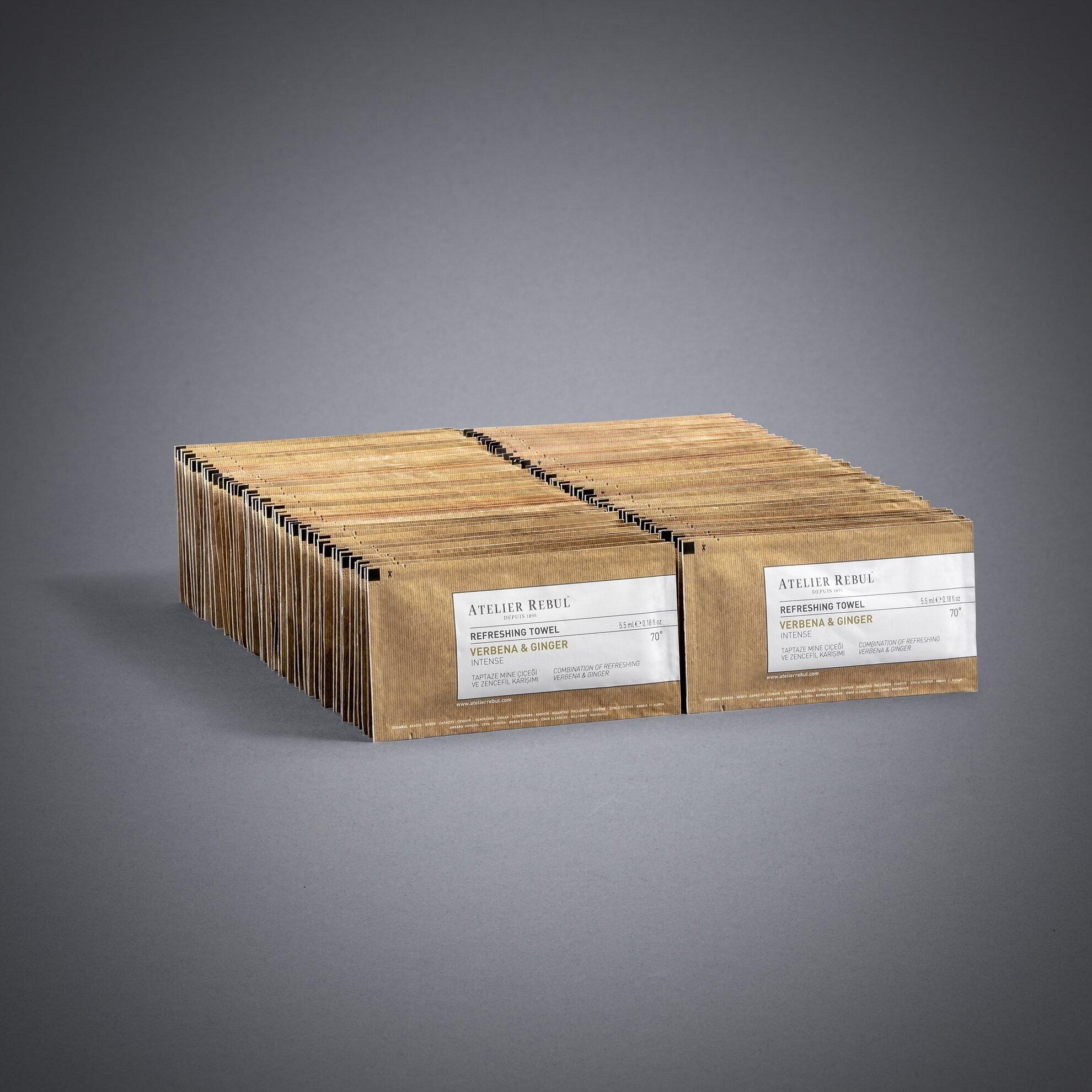 Mine Çiçeği & Zencefil Kolonyalı Mendil 100'lü Paket