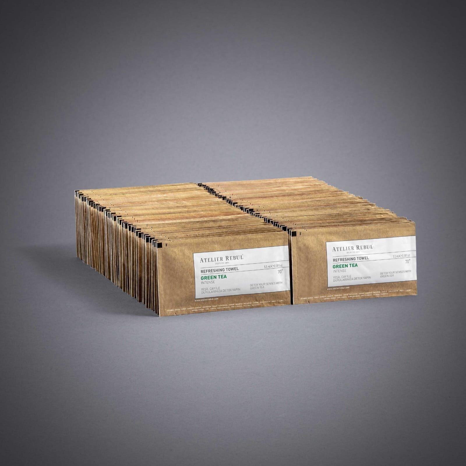 Yeşil Çay Kolonyalı Mendil 100'lü Paket